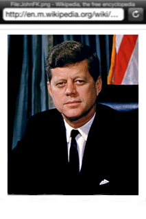 A picture of President John F. Kennedy